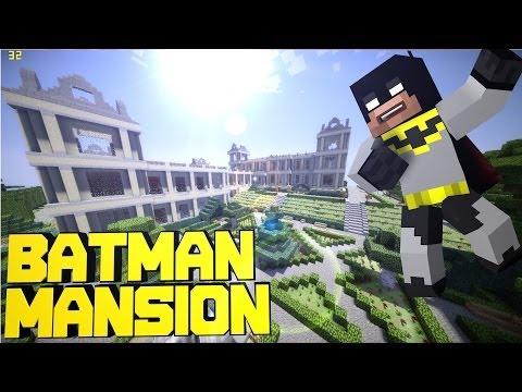 Minecraft PE Batman's Mansion + BatCave ! [DOWNLOAD]