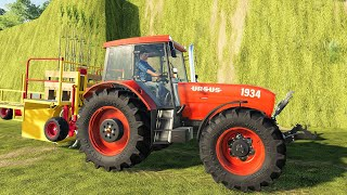 How to remove a tree forever Farm simulator And a wooden trailer and a great Tractor | LS19