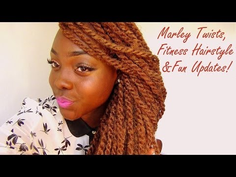 Coloured Marley Twists, Fitness, & Fun Update clips VLOG!