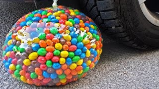 Download Crushing Crunchy & Soft Things by Car! EXPERIMENT CAR vs GIANT M&M BALLOON Video