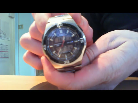 How to change the analogue time on a Casio AQ-164W Watch