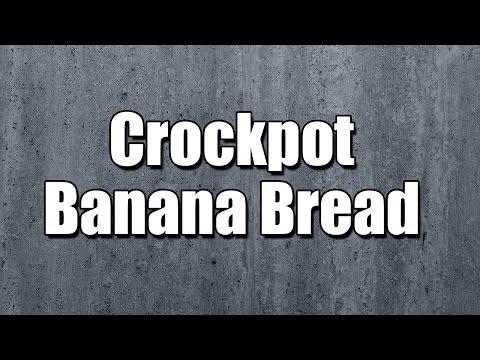 Crockpot Banana Bread - MY3 FOODS - EASY TO LEARN