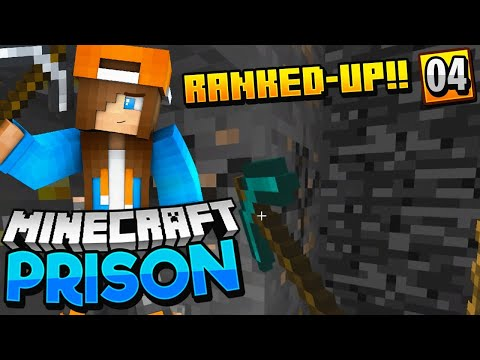 RANKED-UP 3 TIMES?! - Minecraft Prisons EP.4 (Pocket WIN 10 Edition)