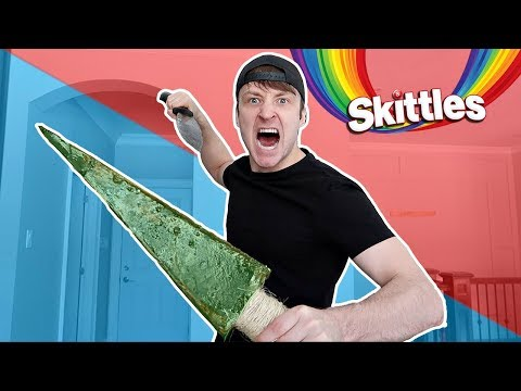 DIY GIANT SOUR SKITTLES WEAPONS *EATING GIANT CANDY* Learn How To Make DIY Edible Gummy