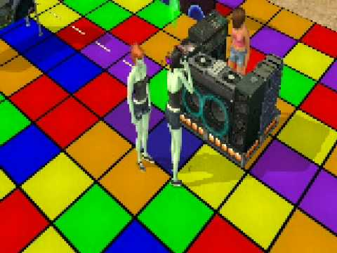Sims 2: 2 dancing Aliens and an Un expected Engagment