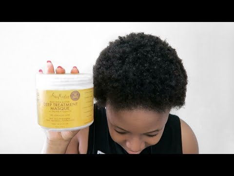 HOW TO | DEEP TREATMENT & CONDITIONER FOR DRY NATURAL HAIR Ft. Shea Moisture Hair Mask Demo & Review