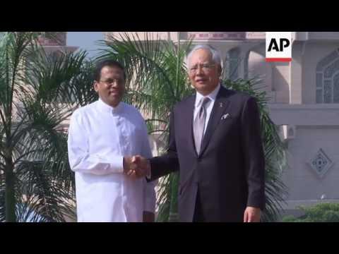 Malaysian PM greets Sri Lankan president