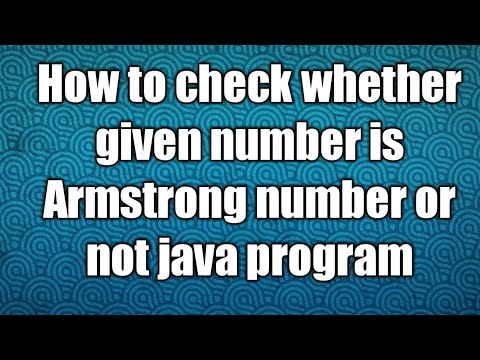 How to check Armstrong number java program
