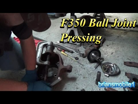 F350 Ball Joint Pressing