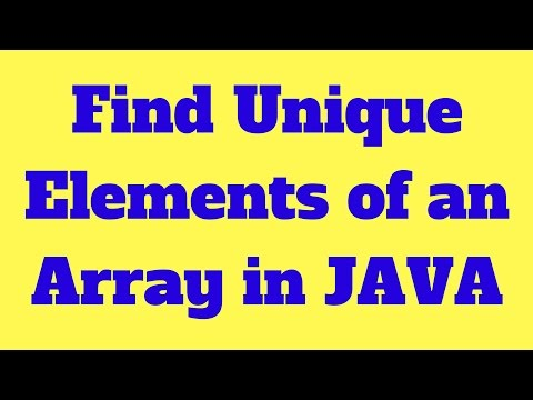 How to find unique elements of an array in Java