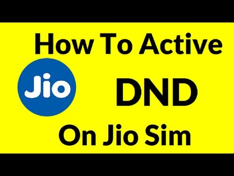 How to Active DND ON Jio Sim HIDNI | DO NOT DISTRUB