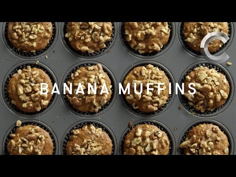 How to Make Banana Muffins with that Good Good | Baked | Cut