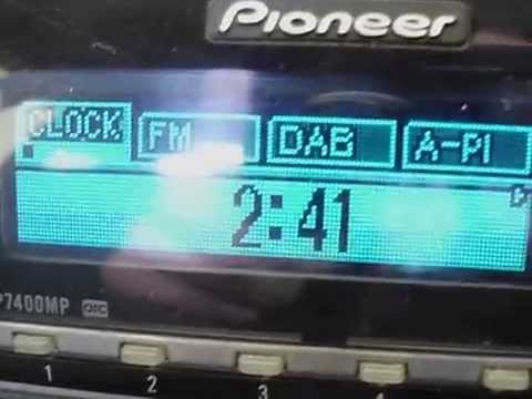 How to set the clock on pioneer mosfet 50wx4