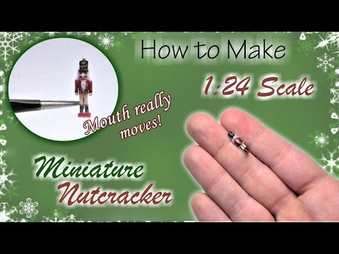 Miniature Nutcracker Soldier Christmas Tutorial (moves!) | Dollhouse | How to Make 1:24 Scale DIY