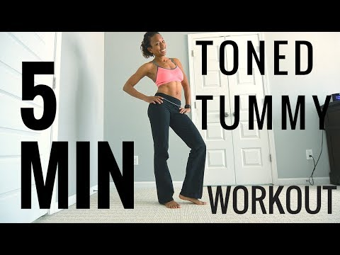 5MIN TONED TUMMY Workout! (NO MORE MUFFIN TOP)