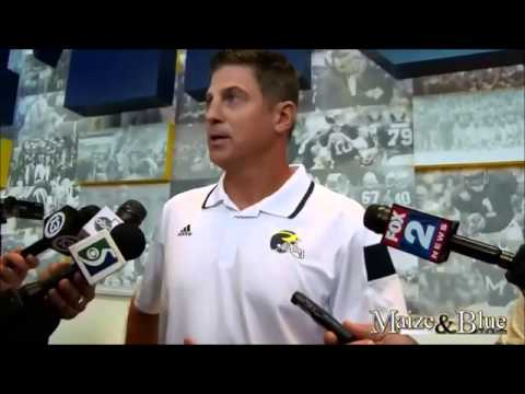 Doug Nussmeier media day -The University of Michigan Wolverines Football 2014 Team 135