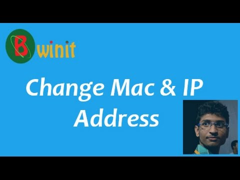 Change your mac and IP address without any software