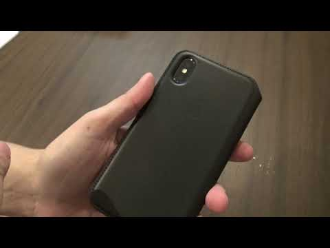 Apple iPhone X 10 Black Leather Folio Case unbox and review