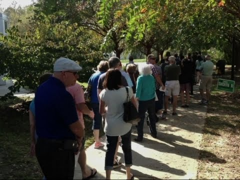 Long Lines as N.C. Early Voting Starts