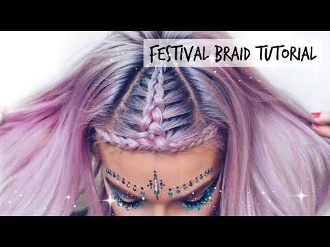 Music Festival Halo Braid Hair Tutorial | LoveFings