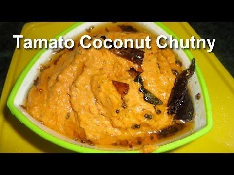 How to Cook Tasty Tomato Coconut Breakfast Chutney .:: by Attamma TV ::.