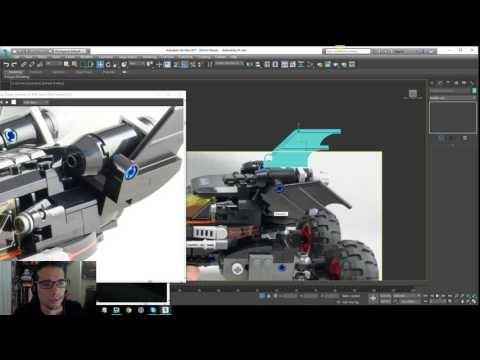 Lego Batman 2017 - Batmobile Modeling Tutorial - Part 16
