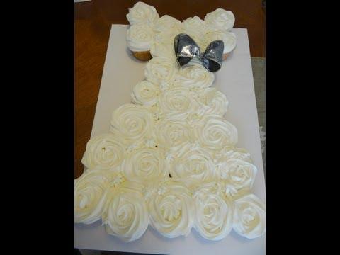Wedding Gown Pull-Apart Cupcake Cake