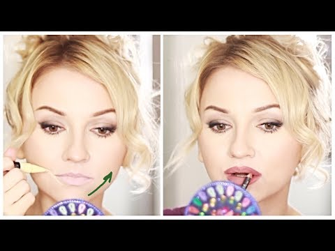 Upper Lip Lift with makeup