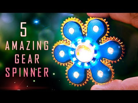 5 Amazing Gear Fidget Spinners - Spin like forever