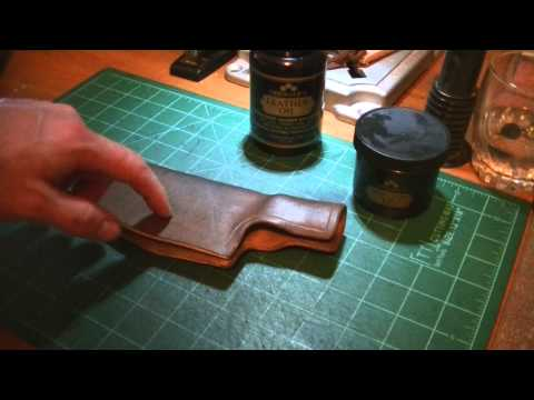 Leather working -  How to dye leather