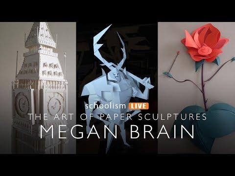 The art of paper sculptures with Megan Brain