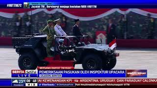 Presiden Jokowi Periksa Seluruh Pasukan Upacara HUT ke-72 TNI