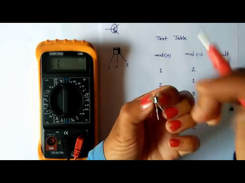 transistor testing by multimeter