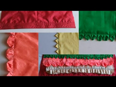 Five different types of petticoat lace making  how to make different designer laces for petticoat