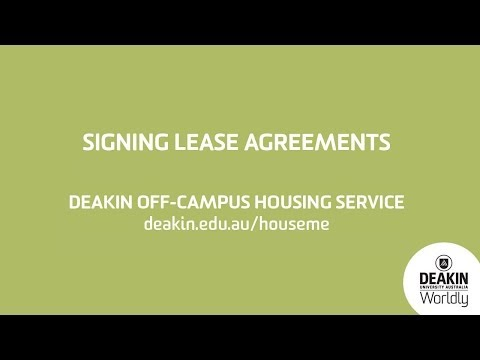 Signing lease agreements know your rights. Deakin University Off Campus Housing