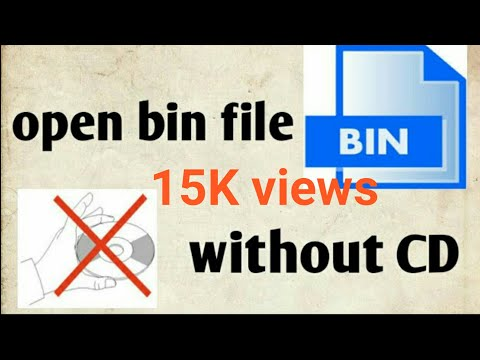 open .bin file easily without CD