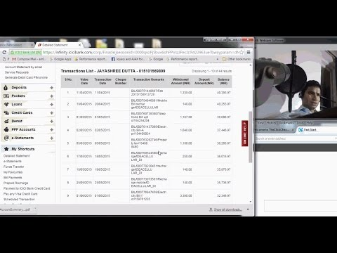 1 How to view detailed bank  statement for ICICI bank   (English)