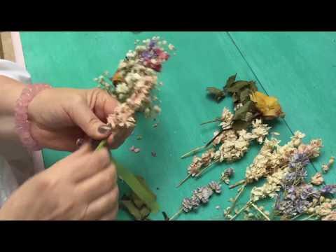 Dried Flower Crown/Wreath Making.
