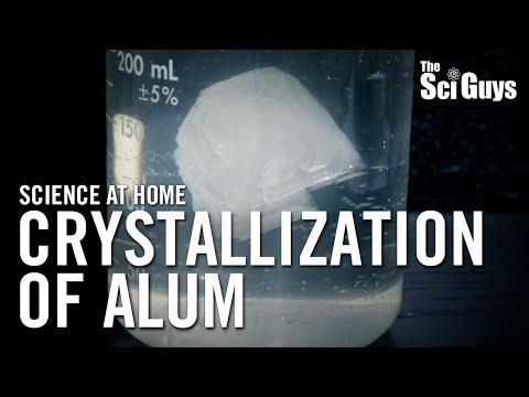 The Sci Guys: Science at Home - SE1 - EP6: Crystallization of Alum - How to Grow Alum Crystals