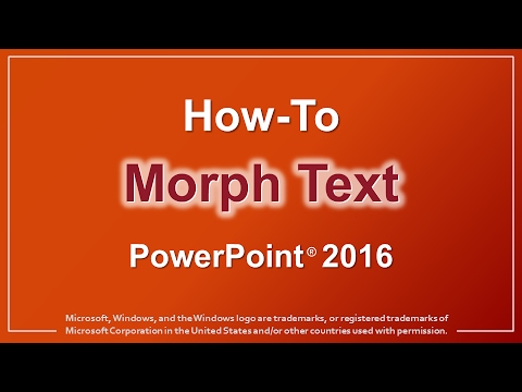 How to Morph Text in PowerPoint 2016