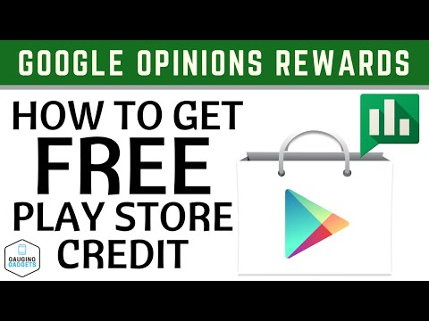 How To Get Free Google Play Store Credit - Google Opinion Rewards Tutorial