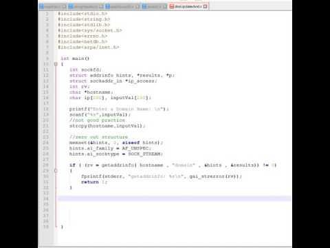 C Network Programming - DNS Lookup using getaddrinfo