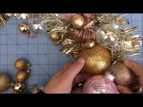 DIY glass ornament wreath