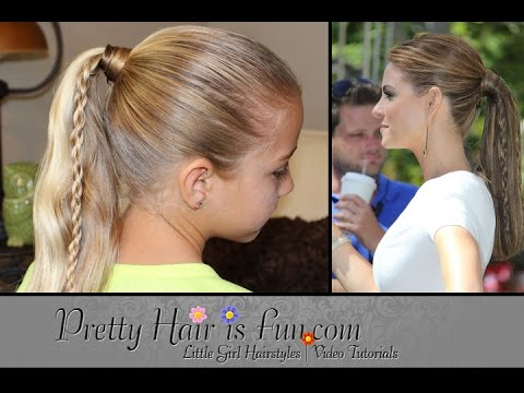 How To: Twin Braid Ponytail {Maria Menounos Inspired} | Pretty Hair is Fun