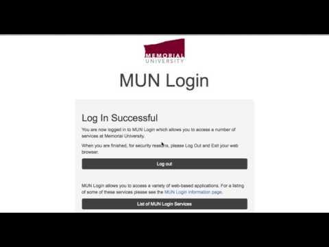 How to change MUN Login password via login.mun.ca