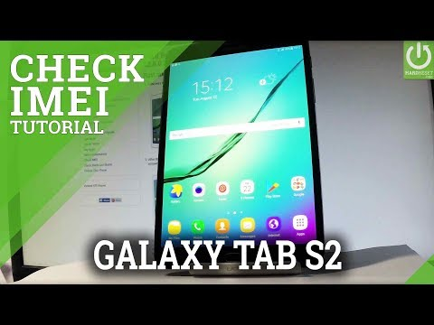 How to Check IMEI in SAMSUNG Galaxy Tab S2 - IMEI Info