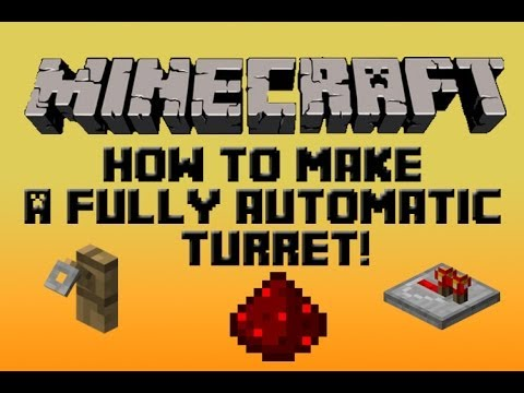 Minecraft Redstone Tutorial: How To Build A Good Home Defense System(1.7.4) (2014) (HD)