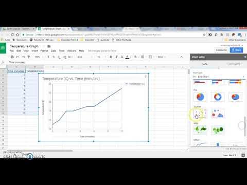 Making a Line Graph using GoogleSheets