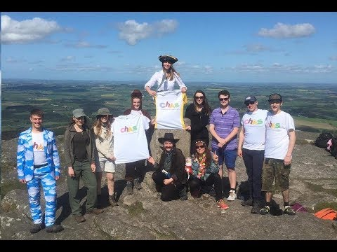 CHAS Charity Hike and Bouldering on top of Bennachie