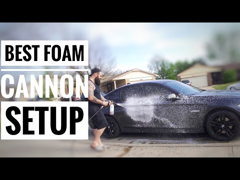 ABSOLUTE BEST Electric Power Washer & Foam Cannon Combo   SUPER THICK FOAM